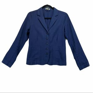 Eileen Fisher Navy Cotton Blazer size small